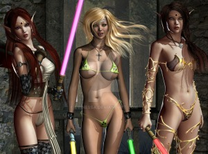 jenny_poussiny_lightsaber_evinessa_elf_trio_05_by_evinessa-d6gmwk8